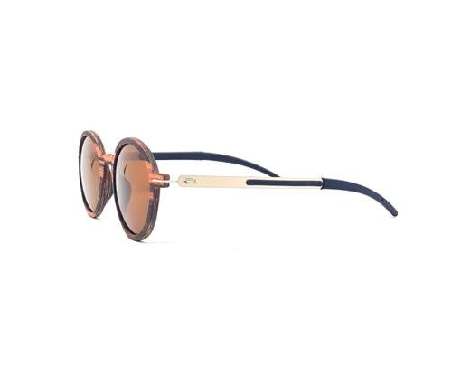 trivia lunettes bois noyer verres gris coté