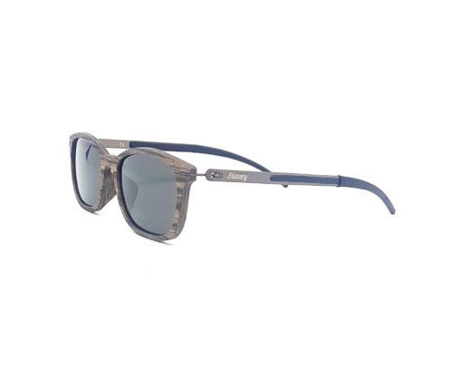 aquilon lunettes noyer foncé verres gris coté