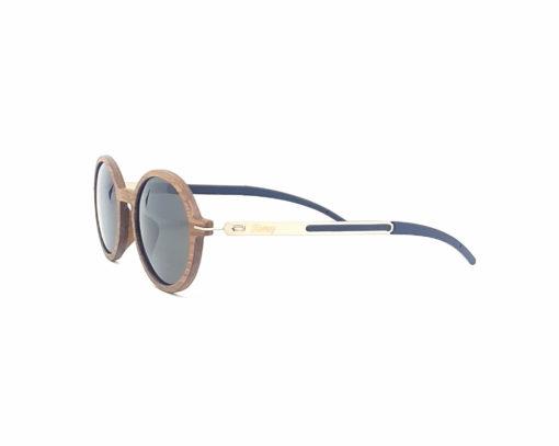 diane lunettes noyer verres gris coté