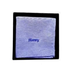 pochette de costume en coton - jeans bleu clair