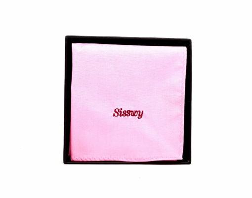 pochette de costume en coton - rose clair